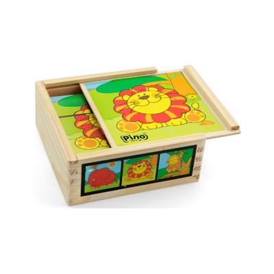 Пино коцки Џунгла (9 коцки)